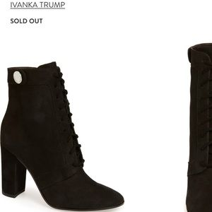 Ivanka Trump Regal black lace up boot 7.5